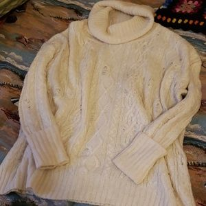 FREE PEOPLE Sweater Destroyed Cowl Tunic